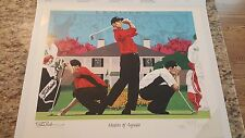 Masters of Augusta: Tiger Woods, 1997Rick Rush Millennium Series: SN, LE, Print