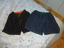 Boy's, set of 2 shorts, blue/black, size S (12 year old)