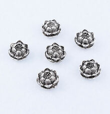 Nice 10pcs Tibetan silver Lotus Loose Spacer Beads DIY Bracelet Necklace 11X6mm