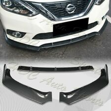 For 2016-2019 Nissan Sentra Carbon Look Front Bumper Body Kit Spoiler Lip 3PCS