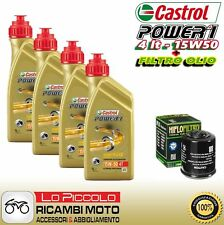 KIT TAGLIANDO 4LT OLIO CASTROL POWER1 15W50 FILTRO Moto Guzzi Quota ES 1100 2000