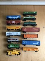 Ho Scale Lot Of 14 Variety Of Box Cars And Tank Car Selling As-Is