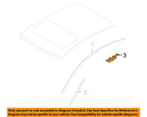 NISSAN OEM Roof-Drip Molding Clip 73858JK05A