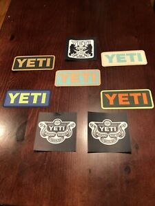 Yeti authentic decal stickers Lot of 8
