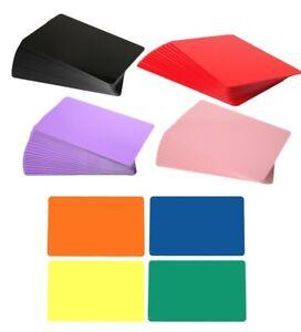 Coloured PVC Plastic ID Cards CR80 760 Micron - FREEPOST - Choose Your Colour