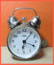 Twin Bell Alarm Prim Table Desk Watch Czechoslovakia 1970s Does Work 4.5""
