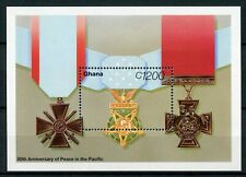 Ghana 1995 MNH WWII WW2 VJ Day Peace in Pacific 1v SS Word War II Medals Stamps