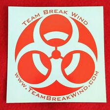 Team Break Wind Sticker / Decal � Disc Golf Sport BioHazard Frisbee Team Player