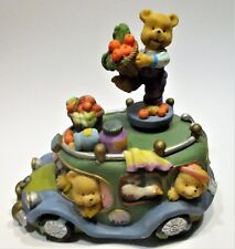Beautifully Music Box bears taxi.the standing bear turns