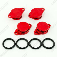 4x 32mm RED ALUMINIUM SWIRL FLAP REPLACEMENT + O-RING FOR BMW 6 SERIES 7 SERIES