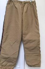 Vintage LL Bean Side Zip Insulated Winter Pants Tan Size Mens Large
