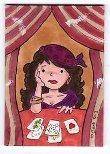 2013 1/1 Original Artwork The Fortune Teller By Beck Seashols