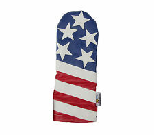Sunfish Leather driver golf headcover - USA - American flag - The Liberty !
