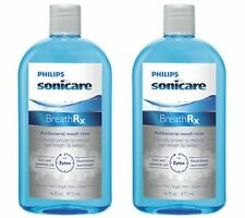 BreathRx Philips Sonicare Anti-Bacterial Mouth Rinse 16 Ounce Bottle Pack of 2