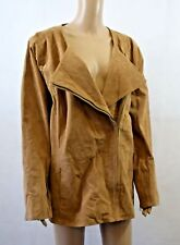Bnwt Dennis By Dennis Basso Washable Leather Jacket In Tan - Size 2XL