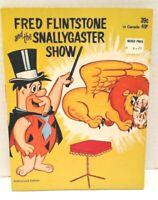 1972 Hanna Barbera Book Fred Flintstone And The Snallygaster Show Flintstones