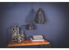 Black 1 Light Pendant Open Wire Ceiling Hang lamp By PTMD Home Collection