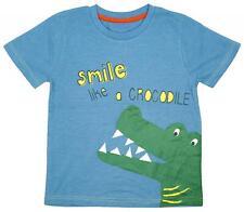 Niños Cadena de Tiendas Sonrisa Like A Cocodrilo Algodón Camiseta Azul 1A 6 Años