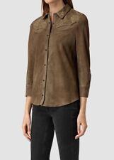 Bnwt Allsaints Nathalia Suede Shirt.blouse.leather.jacket.uk 6.£198