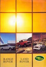Land Rover 90 110 Range Rover UK market 1983 sales brochure