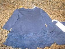 NWT 6 mos Ralph Lauren navy blue dress ruffles