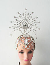 Da NeeNa H129 Burlesque Ballet Crystal The Ocean Star Princess Tiara Headdress