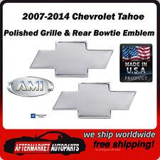 2007-2014 Chevrolet Tahoe Polished Billet Bowtie Grille & Rear Emblem AMI 96108P