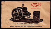 "1910 Allover ""Bull Dog"" Gasoline Engine - San Francisco, California - Scott 349"