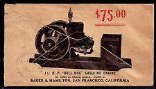 "1910 Allover ""Bull Dog"" Gasoline Engine - San Francisco, California - Scott 349"