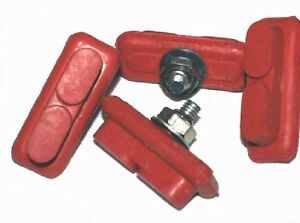 Old School Red BMX Brake Shoes /  2 Pairs Red NEW!