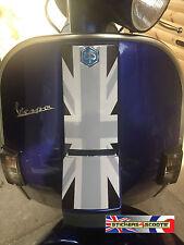 Horn Cover Cast Sticker Graphic Fits Vespa PX T5 LML Black Union Jack Decal HC1