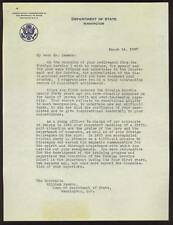 1947 DEAN ACHESON Act. Sec. of State Autographed Letter