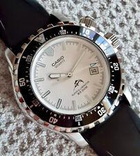 Casio MDV-102D-7AV 200M WR Super Illuminator White Dial Black Bezel Quartz Watch