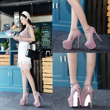 Stunning Stiletto High Heels Mary Jane Pump Womens Party Shoes 7INCH HIGH 17CM