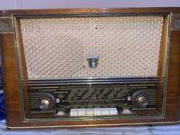 VINTAGE VÁLVULA RADIO EUMIG EUMAGNUS 383W  PARA  RESTAURAR 1956