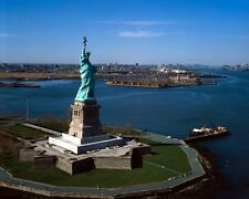 New 8x10 Photo: Statue of Liberty with Islands and New York City Beyond