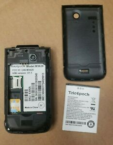 TeleEpoch M3620 AT&T Black GSM Cellular Flip Phone 3G TESTED