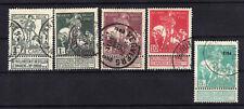 BELGIQUE Belgium 1910/1911 Caritas Yv 84.88.89.91.97 Obl.