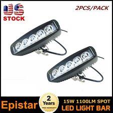 2X 15W Spot LED Work Light Bar Off road Fog lamp UTE JEEP 4WD 4X4 Truck Parts