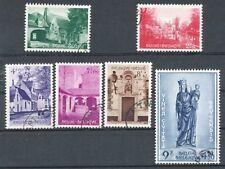 TIMBRE STAMP ZEGEL BELGIQUE BEGUINAGE BRUGES 946-951 OBLITERES