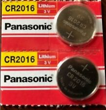 TWO NEW PANASONIC CR2016 lithium coin cell 3V battery