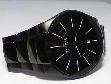 Skagen Mens Titanium Stainless Black Watch, Denmark Danish, Great Condition