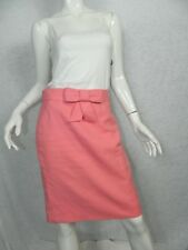 J.CREW Skirt Pink Bow Bubble Gum Cotton Fulda Pencil Skirt Size 2