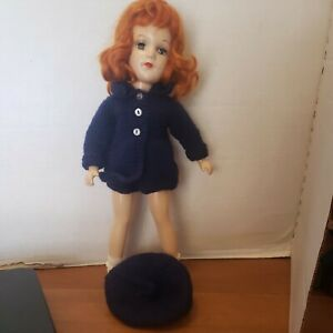 """Gorgeous Vintage Original Mary Hoyer Doll 14"""" Red Hair! Composition"""