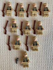 LEGO German Soldier  Indiana Jones lot of 10 minifigures with accessories.