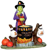 Lemax 22009 CAULDRON CORN Spooky Town Figurine Halloween Decor Witch Figure I
