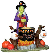 Lemax 22009 CAULDRON CORN Spooky Town Figurine Halloween Decor Witch Figure I