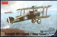 SOPWITH 2F1 CAMEL (NAVY CAMEL - HMS QUEEN ELIZABETH & HMS PEGASUS)#44 1/72 RODEN