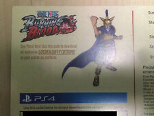 One Piece Burning Blood Golden Luffy Costume DLC code PS4
