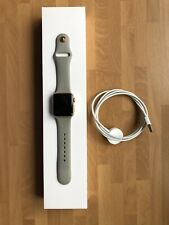 Apple Watch Series 1 38mm Gold and Concrete Sports Strap Very Good Condition